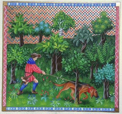 Livres de chasse de Gaston Phébus, enluminure du 14e siècle