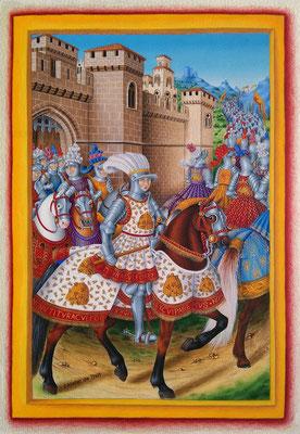 Jean Marot Le voyage de Gênes, enluminure du 16e siècle