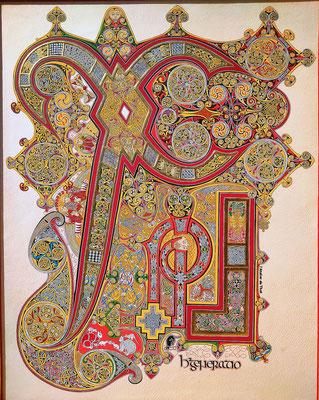 Chi-Rhô, enluminure celte, Livre de Kells
