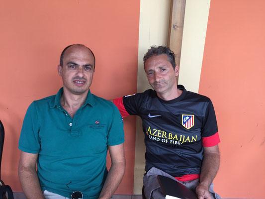 La dirigenza del Parma calcio prima del marcato della decima 2015-2016