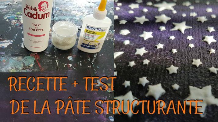 Recette maison de la pâte à structure (modeling paste)