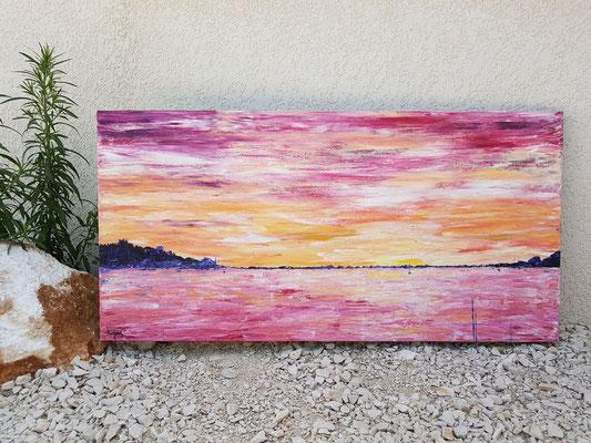 grand-tableau-panoramique-paysage-ocean-abstrait-rouge-orange-jaune-peinture-moderne-audrey-chal