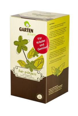 Bio-Grünguss ist ein Kompost Tee mit dem Sie sanft und biologisch Gemüse und Kräuter düngen können. www.the-golden-rabbit.de