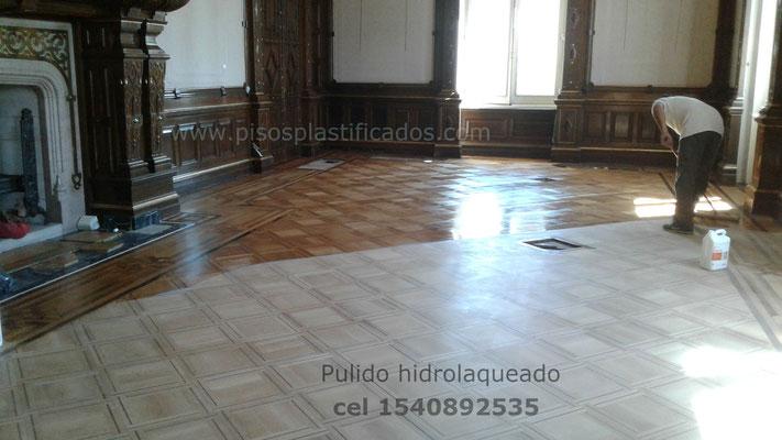 pintado de pisos de madera hidrolaqueado, ap  plastificados