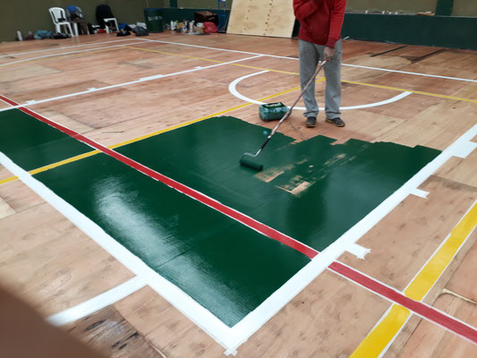 pintado de areas y lineas deportivas, ap  plastificados