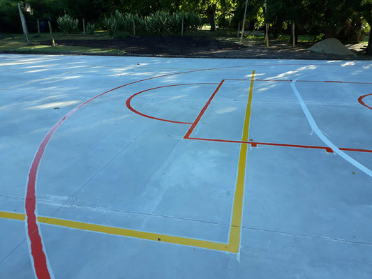 pintado de lineas, deportivas en suelos duros, ap  plastificados