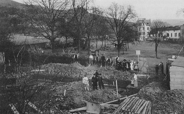 Beginn der Bauarbeiten, März 1913