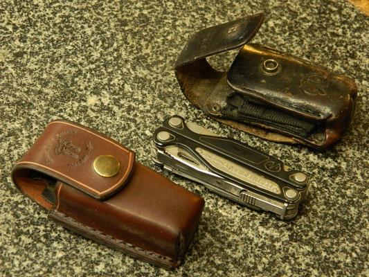 Étui pour couteau-outil. L'ancien et le nouveau