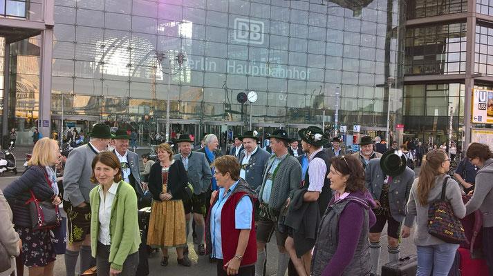 Ankunft am Berliner Hauptbahnhof