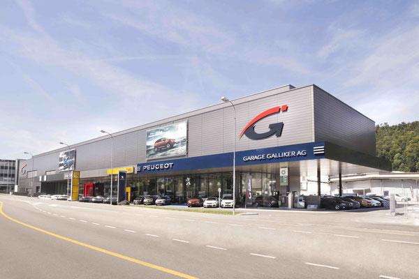 Carplanet Galliker unterhält in der Schweiz 16 Garagen - hier die Garage Galliker AG in Aarburg.