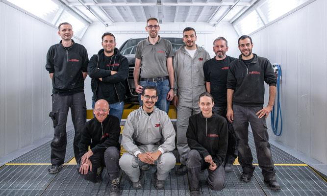 Das Team von Carrosserie Wesemann.