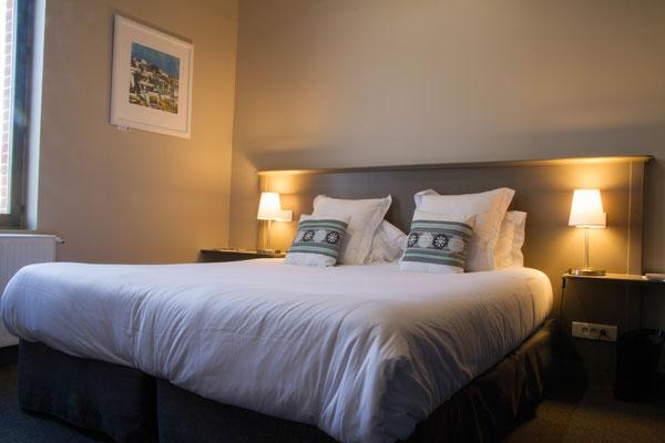 Confort hôtelier : lit (180x200) ou lits jumeaux sur demande