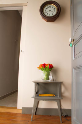 The entrance of your furnished apartment with a balcony