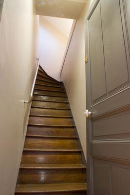 Escalier privatif donnant sur votre appartement