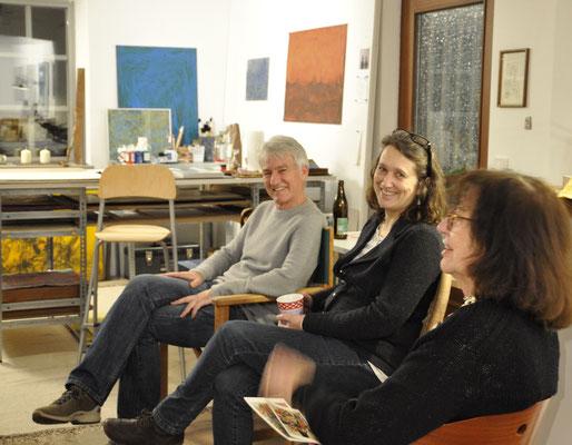 Günter Stiegelmaier, Susanne Hauenstein und Besucherin