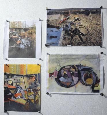 Fotos, Studien und Übermalungen -  Claudia Groß