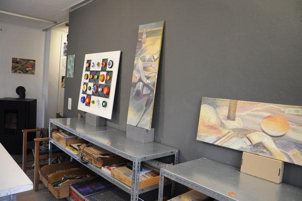 Acrylbilder und Materialcollage von Claudia Groß