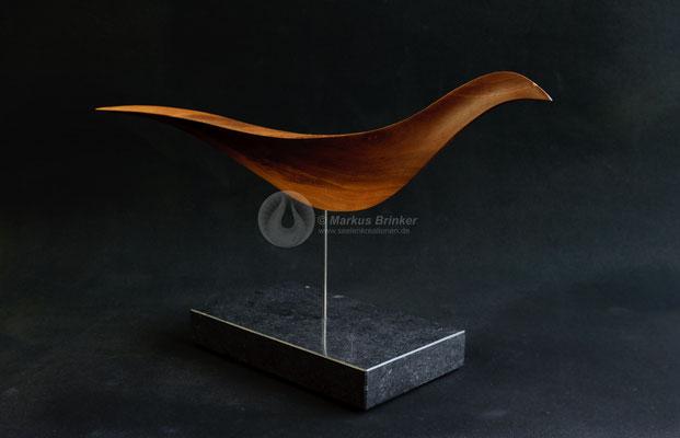 Sonnenvogel, Mandelholz, geölt, 42 cm
