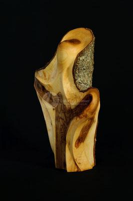 Umarmung, Olivenholz geölt, 35 cm