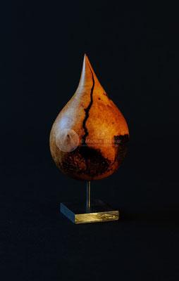 Tropfen, Erika-Wurzelholz geölt und gewachst, 14 cm