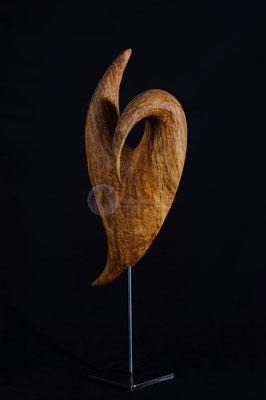 Zyklus - Vergehen -, Walnußholz geölt, 40 cm
