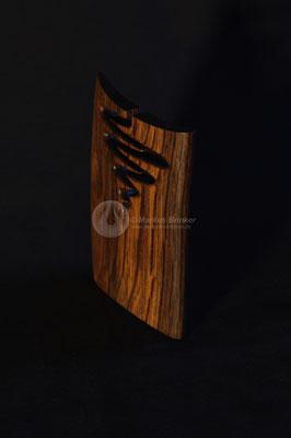 Flow, uralter Olivenbaum Kernholz geölt, 12 cm