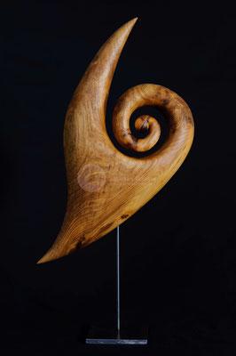 Zyklus - Werden -, Walnußholz geölt, 44 cm