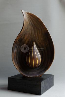 Skulpturenduo Nr. 2, Walnussholz, geölt, 70 cm