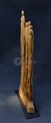Wahre Größe, Kirschholz mit Blattgold, 57 x 30 x 8 cm, auf Eisenplatte