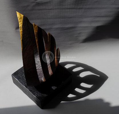 Skulpturenduo Nr. 1, Walnussholz, geölt, 70 cm