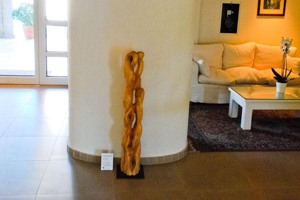 Holzskulptur Tanz der Druiden