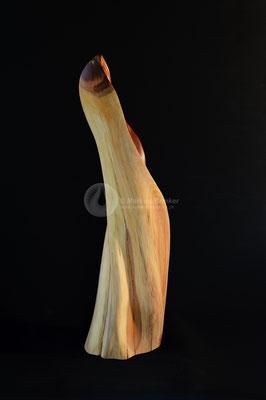 Entfaltung, Zwetschgenholz geölt und gewachst, 68 cm