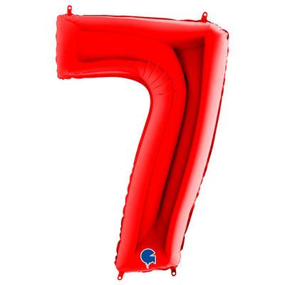 Фигура Grabo цифра 7 красный, размеры 60*90 см, купить в Казани
