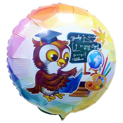Воздушный шар на выпускной, размер 18 дюймов, Умный совёнок #411545 купить в Казани