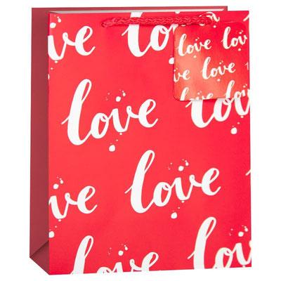Пакет подарочный на День всех влюблённых, с рисунком Любовь, Красный арт. KR-H2354L2 купить в Казани