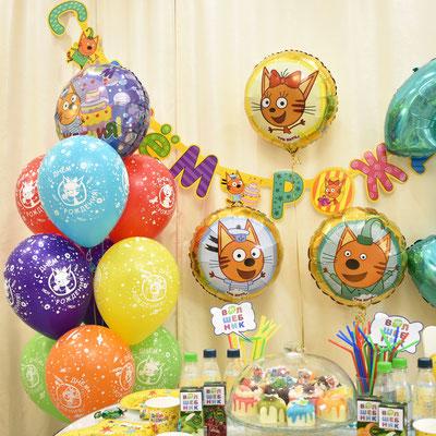 Воздушные шары с гелием на тему Три кота - купить в Казани