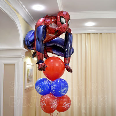 Фольгированная фигура с гелием Человек Паук - купить в Казани