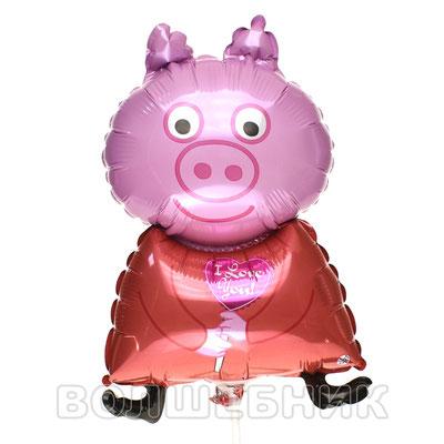 Мини фигура Flexmetal Поросёнок с сердцем купить в Казани