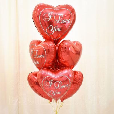 Букет шариков с гелием на тему Любовь - купить в Казани