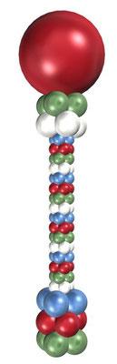 Колонны и столбики из воздушных шаров
