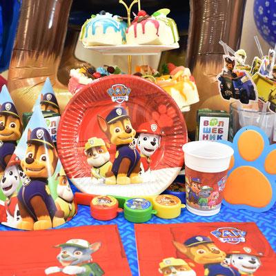 Сервировка праздничного стола в стиле Щенячий патруль - купить в Казани