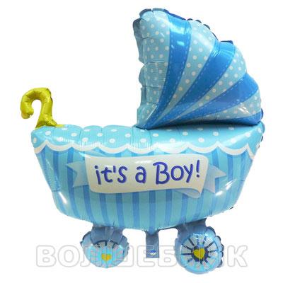Фигура Flexmetal Коляска для мальчика, размеры: 60*65 см, купить в Казани
