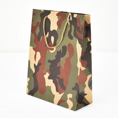 Пакет для подарка крафт Камуфляж 24,5*18,5*7,5 см #1705102 - купить в Казани