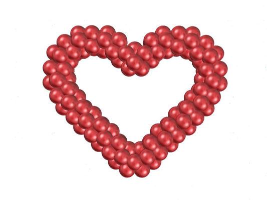 Сердце из воздушных шаров