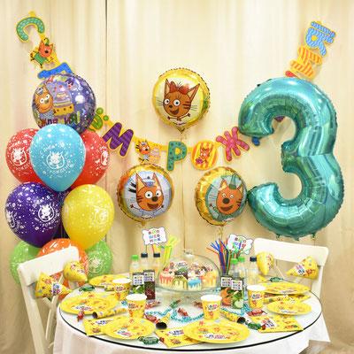 Оформление дня рождения в стиле Три кота - купить в Казани