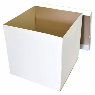 Большая картонная коробка для воздушных шаров - белая - купить в Казани