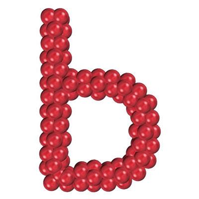 Буква из воздушных шаров