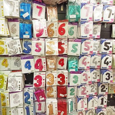 Фольгированные цифры для надувания гелием в магазине Волшебник на Сахарова
