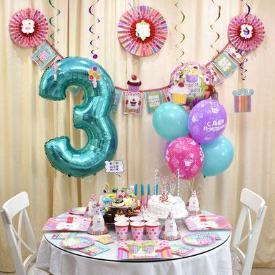Праздничное оформление детского дня рождения в стиле Сладкий праздник