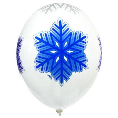 Воздушные шары с рисунком Снежинки, надутые гелием - купить в Казани